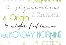 Font Love / Fonts