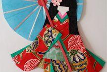 Японские куклы из бумаги.