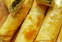 Filo cigars, borek and gozleme