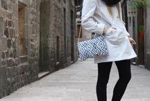 Autumn Bags (blue and beige) / Bolsos hechos a mano, ideales para la temporada de otoño. Son prácticos, elegantes y ideales para el día y la noche.
