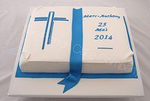Gâteau de communion - Communion Cakes / De beaux gâteaux personnalisés pour les Communiantes et les Communiants Beautiful and personnalised cakes for Communions