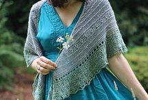 Knit Shawls: DK/8ply