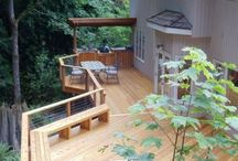 Wood Decks / Beautiful wood decks designed and built in house.