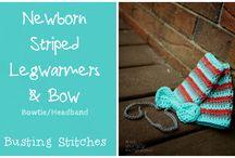 crochet baby leg warmers
