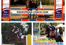 EquestrianCoach Workshops / EquestrianCoach WorkShops are held at Bernie Traurig's facility in San Diego. Riders ride twice daily, with flatwork during the morning sessions and course work in the afternoons combined with dinner, Q&A and video analysis. We are on day 4 of 5 and will wind up with a challenging course and jump off on Sunday.  For information on workshops go to: http://www.equestriancoach.com/bernie-workshop / by Equestrian Coach