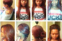 Versatile sew in / hairstyle ideas