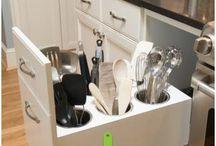 Small Kitchen Creative Ideas / Storage saving ideas for tiny homes.