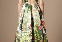 vestidos en brokados y mikados