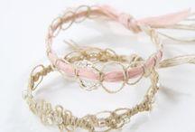 pulseras/handmade bracelets / by Rosa M Fernández