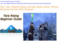 Tera Rising Gaming Guides / Tutorials / Tera Online gaming tutorials / guides. From raw beginner to intermediate.