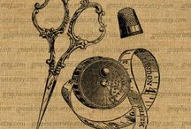 Tatuagem de tesoura e fita