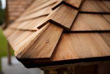 Venables Oak  - Pavilion Oak Lodge with Cedar shingles / Complete project including Venables Oak cedar shingles and bi-fold doors, oak beams and trusses
