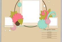 Scrapbook layout templates I like