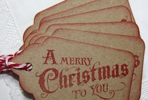 christmas gift tags / by Lindsey Gerrish