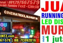 LED Display / 081297667579 | Jual Running Text LED Outdoor Display Harga Murah Surabaya Malang Bali Denpasar Lombok Makassar Banjarmasin Balikpapan Manado, Toko Moving Sign, Tulisan Berjalan, LED Reklame, LED Billboard, Distributor Agen Toko Running Text Murah kunjungi : http://www.deprintz.com/page/30/Jual-Running-Text-LED-Display-Harga-Murah-Surabaya