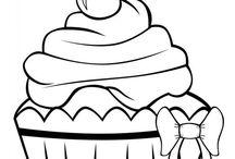 Cupcakes Färglägg