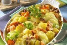 Rezepte / Kohlrabi-Kartoffelauflauf