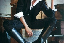 Boots white shirt