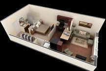 Mini pisos, hoteles / Planos Arquitectura