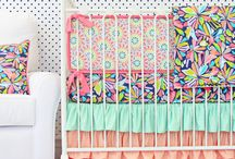 Bright Baby Girl Nursery Ideas / Want your baby girl's nursery to be bright and cheery? Here  you will find some ideas and inspiration to help create the bright nursery you have been dreaming about.