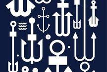 anchors and sea