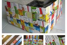 Recycled cereal box DIY / DIY recycle decor crafts with cereal box or other upcycled cardboard