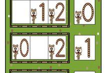 Groundhog Day Literacy & Math Center Work Stations