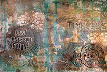 Gears of Steampunk and StencilGirl Stencils