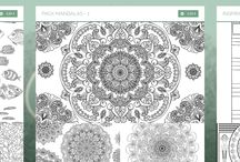 Cahiers de coloriage Caraboutcha / Les cahiers de coloriage disponibles sur Caraboutcha : Mandalas, art indien, art egyptien, motifs floraux, ... #coloringbook
