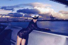 Navy blue.
