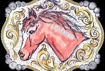 Buckle Art / Hand drawn art used in the production of our top line buckles