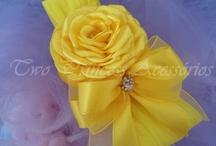Faixa em meia de seda - amarela