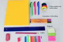 Organização de caderno escolar