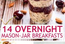 Mason jars breakfast