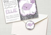 Baptism Invites / Printable files and printed Baptism invitations - designed by Little Monkey Designs Inc. All rights reserved.