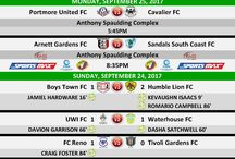 RESULTS - 2017/2018 MATCH DAY RESULTS