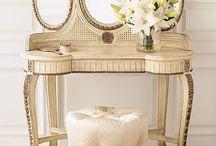 mirror desk chair queen