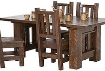 Barnwood Furniture - Made in USA / http://www.lafuente.com/Rustic-Furniture/Barnwood-Collection/