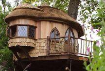 Huler, hytter og huse