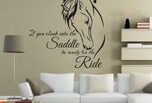Teenage bedroom i love horses