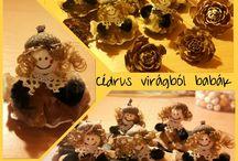 Termések - lótuszvirág, Ming, cédrus, makk, toboz (lotosový plod / Termésekből karácsonyi díszek