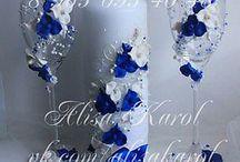 Бокалы Свадебные Синие