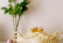 My renovated tureen / My last decoration project - renovating a ceramic object to make a cute shabby chic decor in my living room
