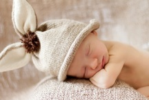 newborns / Some of these include babies wearing hats our company has made.  Others are just images I love.