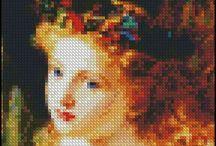 """4x4 Cross Stitch Patterns / These cross stitch patterns have a finished size of 4"""" x 4"""" at 18 count. A small piece of the classics that are quick to stitch and make great gifts! Created by the Art of Stitching!"""