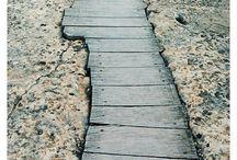 wooden deck pavement