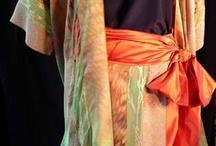 Shibori / Hand dyed wearable art and fabric.