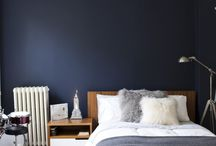 Navy & Brass Bedroom