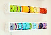 Ribbons of organization - organizando fitas