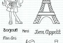 Ooh La La France Set / projects made from the ooh la la set